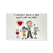 Dad Perfect Day Rectangle Magnet