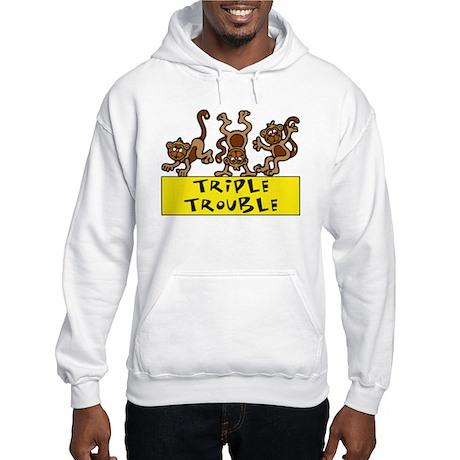 TRIPLE TROUBLE Hooded Sweatshirt