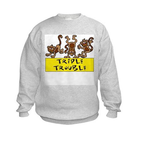 TRIPLE TROUBLE Kids Sweatshirt