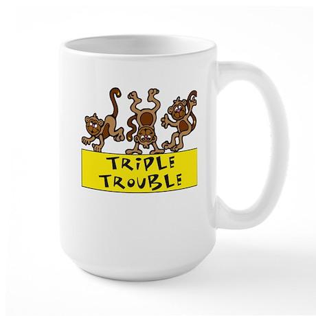TRIPLE TROUBLE Large Mug