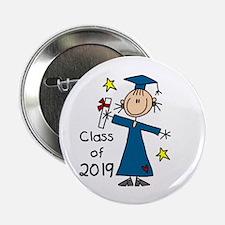 "Stick Girl Grad 2016 2.25"" Button (10 pack)"