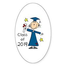 Stick Figure Girl Grad 2014 Decal Sticker