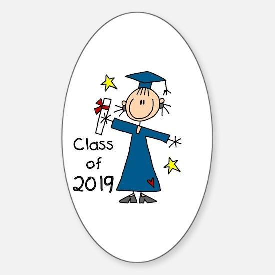 Stick Girl Grad 2016 Sticker (Oval)