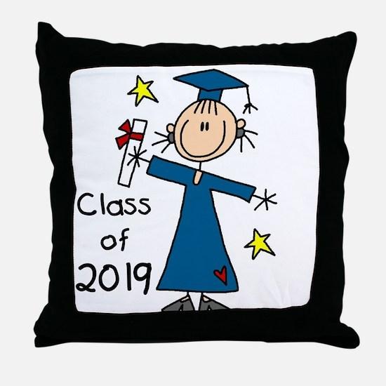 Stick Girl Grad 2016 Throw Pillow