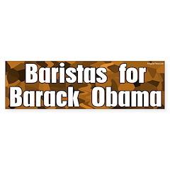 Baristas for Barack Obama bumper sticker