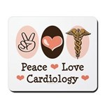 Peace Love Cardiology Mousepad