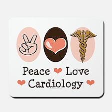 Peace Love Cardiology Mousepad