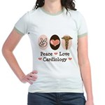 Peace Love Cardiology Jr. Ringer T-Shirt