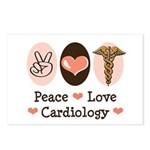 Peace Love Cardiology Postcards (Package of 8)