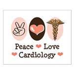 Peace Love Cardiology Small Poster
