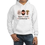 Peace Love Cardiology Hooded Sweatshirt