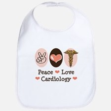 Peace Love Cardiology Bib