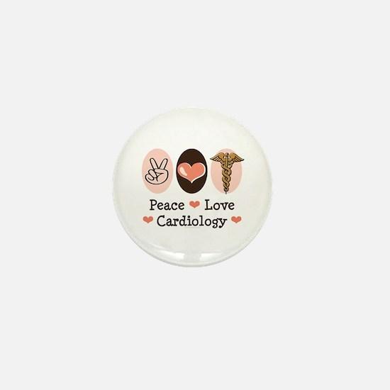 Peace Love Cardiology Mini Button
