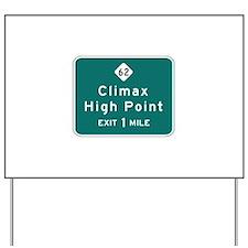 Climax, NC (USA) Yard Sign