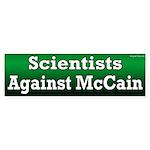 Scientists Against McCain bumper sticker