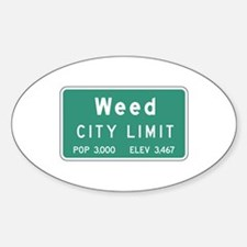 Weed, CA (USA) Oval Decal