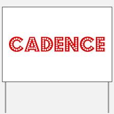 Retro Cadence (Red) Yard Sign