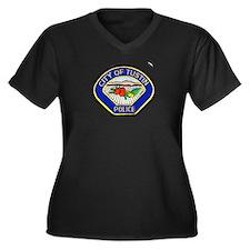 Tustin Police Women's Plus Size V-Neck Dark T-Shir
