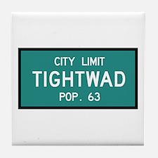 Tightwad, MO (USA) Tile Coaster
