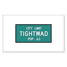 Tightwad, MO (USA) Rectangle Decal
