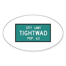 Tightwad, MO (USA) Oval Decal