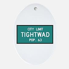 Tightwad, MO (USA) Oval Ornament