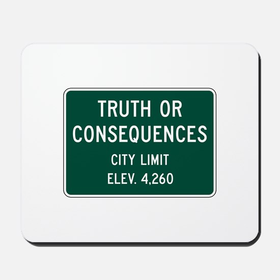 Truth Or Consequences, NM (USA) Mousepad