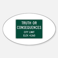 Truth Or Consequences, NM (USA) Oval Decal