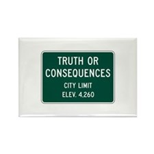 Truth Or Consequences, NM (USA) Rectangle Magnet