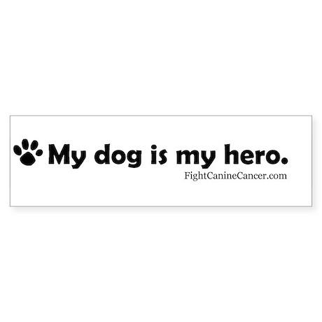 Canine Cancer Awareness Bumper Sticker