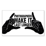 Photographers Make It Last Lo Rectangle Sticker 1