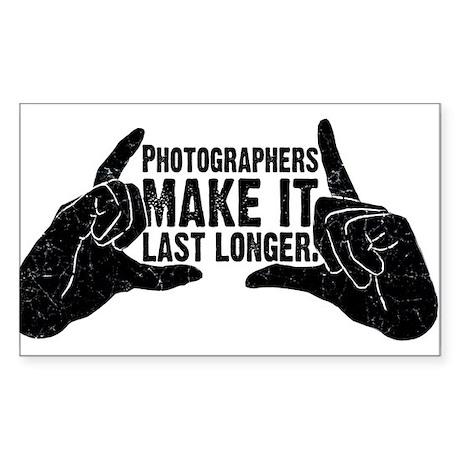 Photographers Make It Last Lo Rectangle Sticker 1