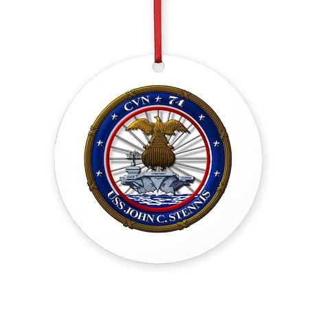 USS John C. Stennis CVN-74 Ornament (Round)
