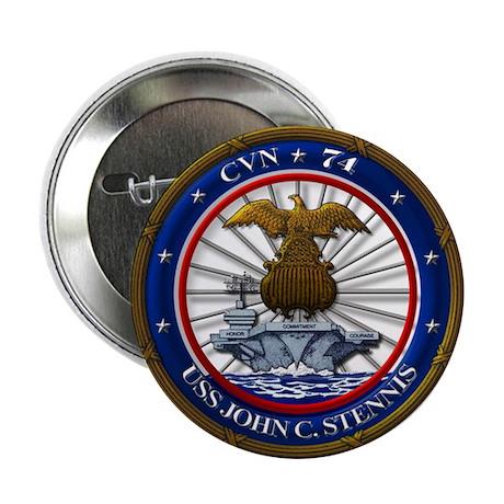 """USS John C. Stennis CVN-74 2.25"""" Button (10 pack)"""