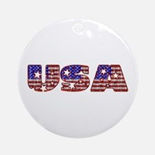 USA Ornament (Round)