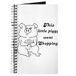 THIS LITTLE PIGGY WENT SHOPPING Journal