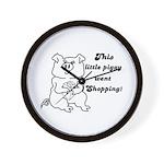 THIS LITTLE PIGGY WENT SHOPPING Wall Clock