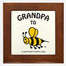 Cute Grandpa to be Framed Tile