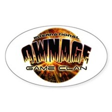 IO» OWNAGE GAME CLAN Oval Decal