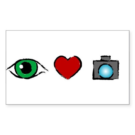 WTD: I Love Photography Rectangle Sticker 10 pk)