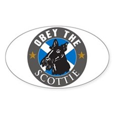 Obey The Scottie Oval Decal