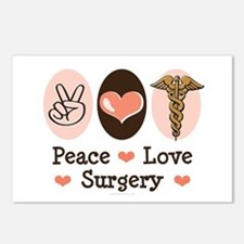 Peace Love Surgery Postcards (Package of 8)