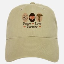 Peace Love Surgery Baseball Baseball Cap