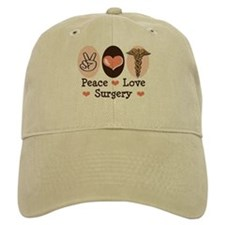Peace Love Surgery Baseball Cap