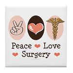 Peace Love Surgery Tile Coaster