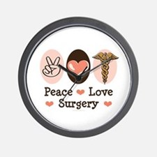 Peace Love Surgery Wall Clock