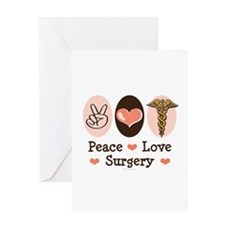 Peace Love Surgery Greeting Card