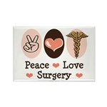 Peace Love Surgery Rectangle Magnet (10 pack)