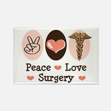 Peace Love Surgery Rectangle Magnet