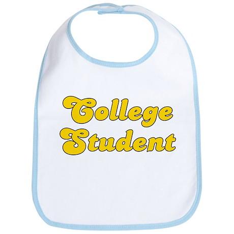 Retro College Stu.. (Gold) Bib
